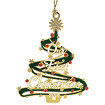 2016 ChemArt Our First Christmas Brass Christmas Ornament