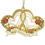 ChemArt Our Wedding Christmas Brass Christmas Ornament
