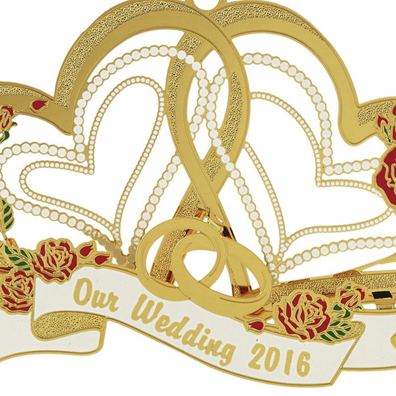 Wedding Christmas Ornaments: Our Wedding Ornament 2016