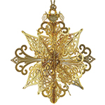 2016 ChemArt Annual Snowflake Brass Christmas Decoration