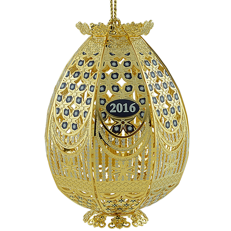 2016 Trellis Egg Christmas Ornament | Chemart Christmas Tree Decoration | Trellis Egg
