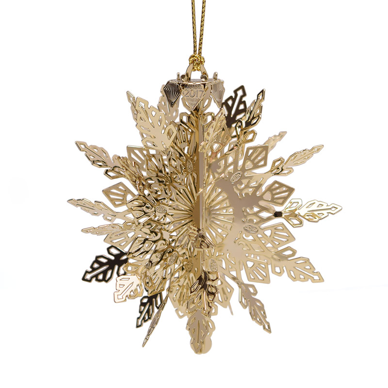 Snowflake ornament chemart ornaments solid brass