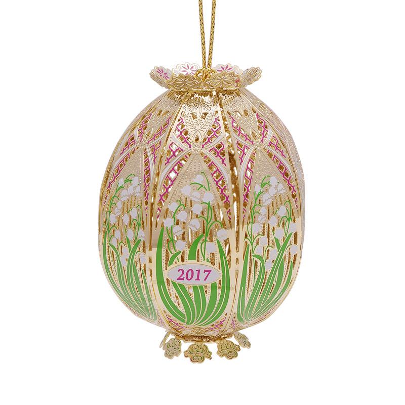 Trellis egg ornament chemart ornaments solid
