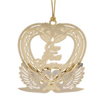 2017 ChemArt Our First Christmas Brass Christmas Ornament