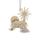 ChemArt Timeless Manger Brass Christmas Ornament