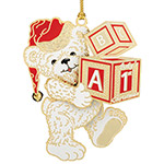 2018 ChemArt Baby's First Christmas Brass Christmas Ornament