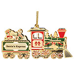 ChemArt 2018 Christmas Train Brass Christmas Ornament