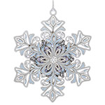 ChemArt 2018 Glowing Snowflake Brass Christmas Ornament