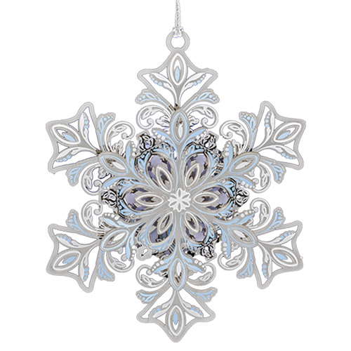 2018 Glowing Snowflake Christmas Ornament | Chemart Christmas Tree Decoration | Snowflake Design