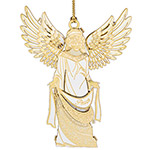 ChemArt 2018 Holiday Angel Brass Christmas Ornament