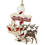 ChemArt 2018 North Pole Brass Christmas Ornament