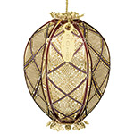 2018 ChemArt Trellis Egg Brass Christmas Ornament