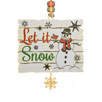 2019 ChemArt Let it Snow Christmas Brass Christmas Ornament