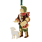 2019 ChemArt Little Drummer Boy Brass Christmas Ornament