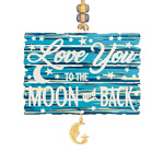 2019 ChemArt Love You to the Moon and Back Christmas Brass Christmas Ornament