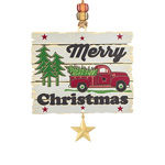 2019 ChemArt Merry Christmas Sign Brass Christmas Ornament