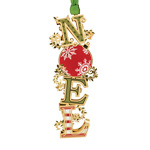 2019 ChemArt Noel Brass Christmas Ornament