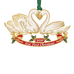 2019 ChemArt Our First Christmas Brass Christmas Ornament