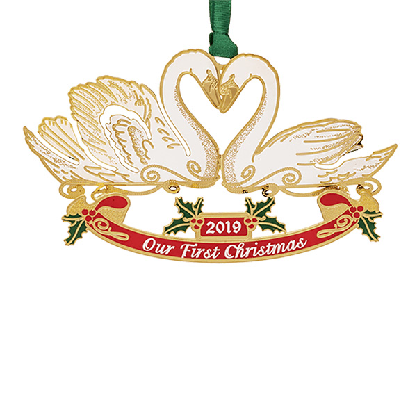 Our 1st Christmas 2019 Solid Brass 24 Karat Gold Christmas Ornament By Chemart