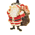 2019 ChemArt Visit From Santa Brass Christmas Ornament
