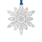 2019 ChemArt Wondrous Snowflake Brass Christmas Ornament
