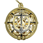 ChemArt Compass Brass Christmas Ornament