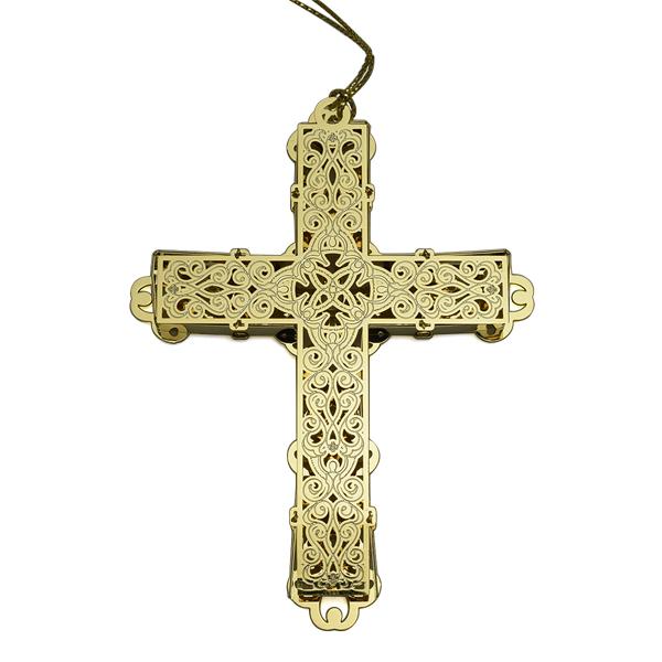 2016 decorative cross christmas ornament chemart christmas tree decoration decorative cross design - Decorative Cross