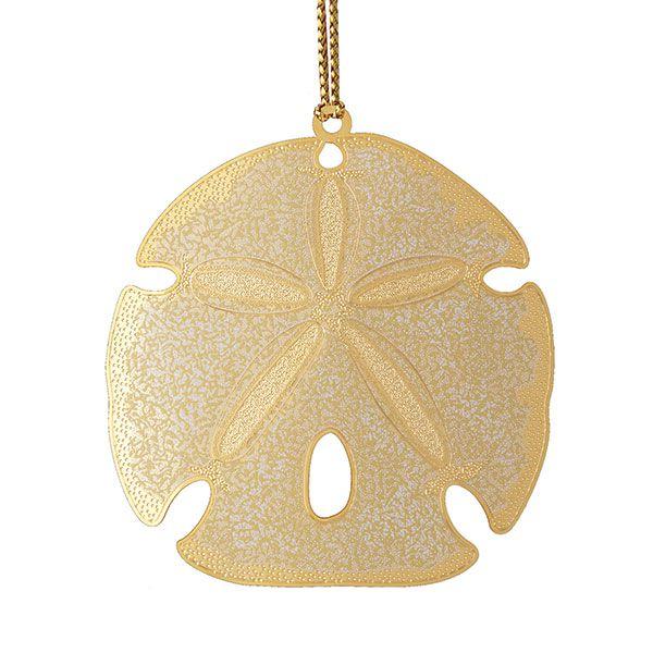 Chemart sand dollar brass christmas ornament