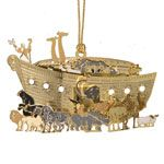 Noah's Ark Brass Christmas Ornament