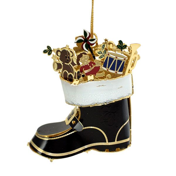 2015 Chemart Baptism Ornament: 2015 ChemArt Santa's Boot Ornament