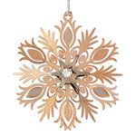 ChemArt Snowflake Brass Christmas Ornament