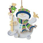 Baldwin Snippety Snowman Christmas Ornament