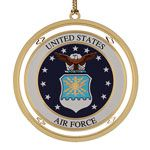 ChemArt US Air Force Brass Christmas Ornament