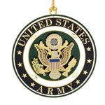 ChemArt US Army Brass Christmas Ornament