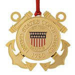 ChemArt US Coast Guard Brass Christmas Ornament