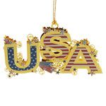 ChemArt USA Brass Christmas Ornament