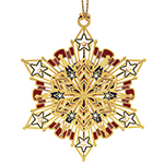 ChemArt Americana Snowflake Brass Christmas Decoration
