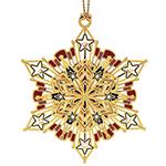 Chemart Americana Snowflake Christmas Ornament