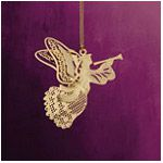ChemArt Heralding Angel Brass Christmas Ornament
