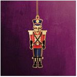 ChemArt Royal Nutcracker Brass Christmas Ornament