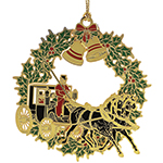Chemart Christmas Horse and Buggy Christmas Ornament
