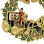 Christmas Horse and Buggy Christmas Ornament | Chemart Christmas Tree Decoration | Christmas Horse and Buggy Design