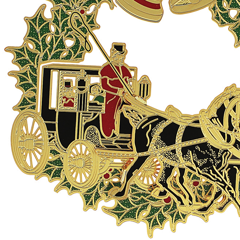 Christmas Horse and Buggy Ornament | Chemart Ornaments | Solid ...