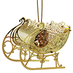 ChemArt Christmas Sleigh Brass Christmas Decoration