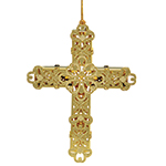 ChemArt Decorative Cross Brass Christmas Ornament