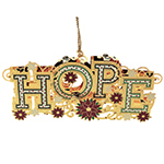 ChemArt Hope Brass Christmas Decoration