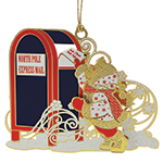 ChemArt Letters to Santa Brass Christmas Decoration