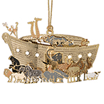 ChemArt Noah's Ark Brass Christmas Decoration
