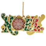 ChemArt Noel Brass Christmas Decoration