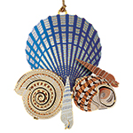 Chemart Seashells on the Seahore Christmas Ornament